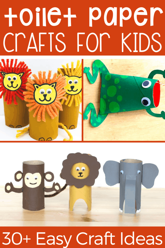30+ toilet paper roll craft activities for kids! Use your empty paper rolls to make these easy animal crafts for kids!