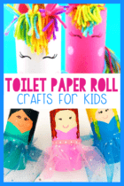 30+ toilet paper roll craft activities for kids! Use your empty paper rolls to make these easy princess, castle and unicorn crafts for kids!