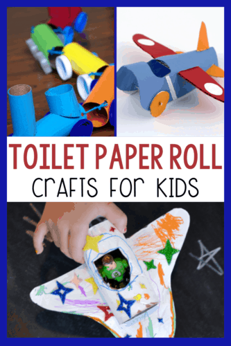 30+ toilet paper roll craft activities for kids! Use your empty paper rolls to make these easy transportation crafts for kids!