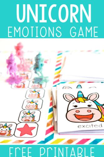 Unicorn Emotions Game Free Printable