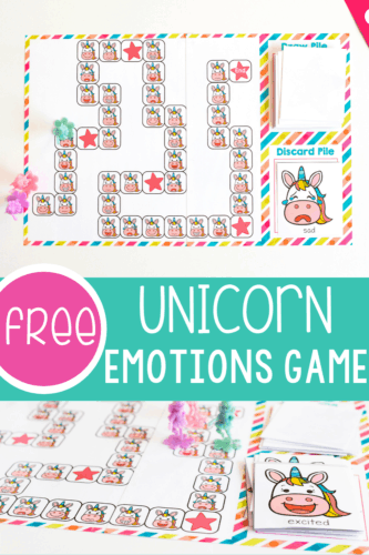 Free Unicorn Emotions Game for Preschoolers