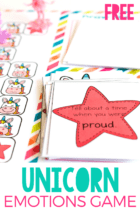 This free printable Unicorn Themed Emotions activity is fantastic for teaching kids about emotions and emotion regulation.