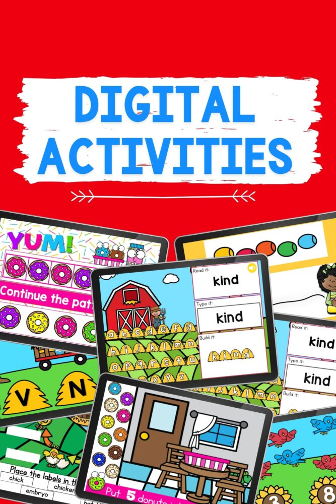 digital activities on I Teach Too website