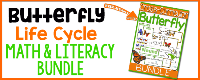 Get this amazing butterfly life cycle themed math and literacy bundle for kindergarten and 1st grade!