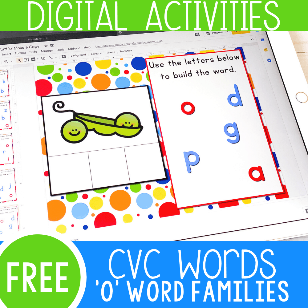 "CVC Words Short Vowel ""O"" Google Slides"
