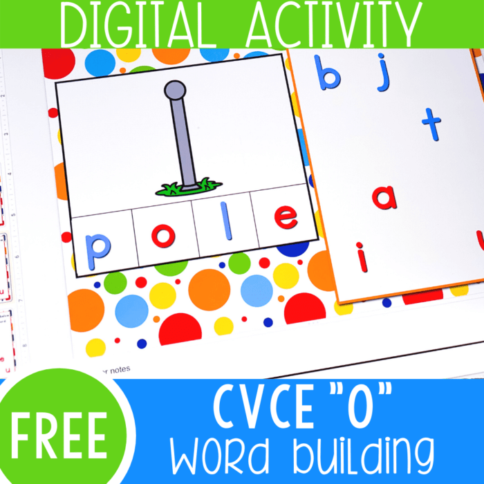 "Free Magic ""e"" Long Vowel literacy activity for kindergarten. Work on long vowel 'o' word families with these Google Slides and Seesaw activities for kindergarten"