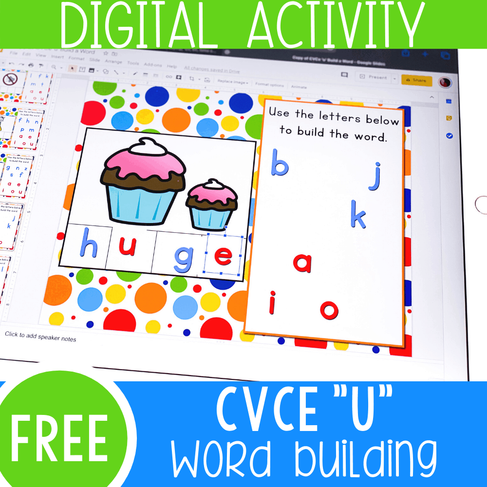Long 'u' CVCe Words Google Slides