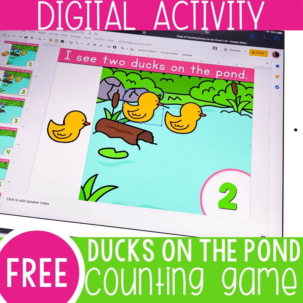 Easy Duck Counting Math Activity for Preschool