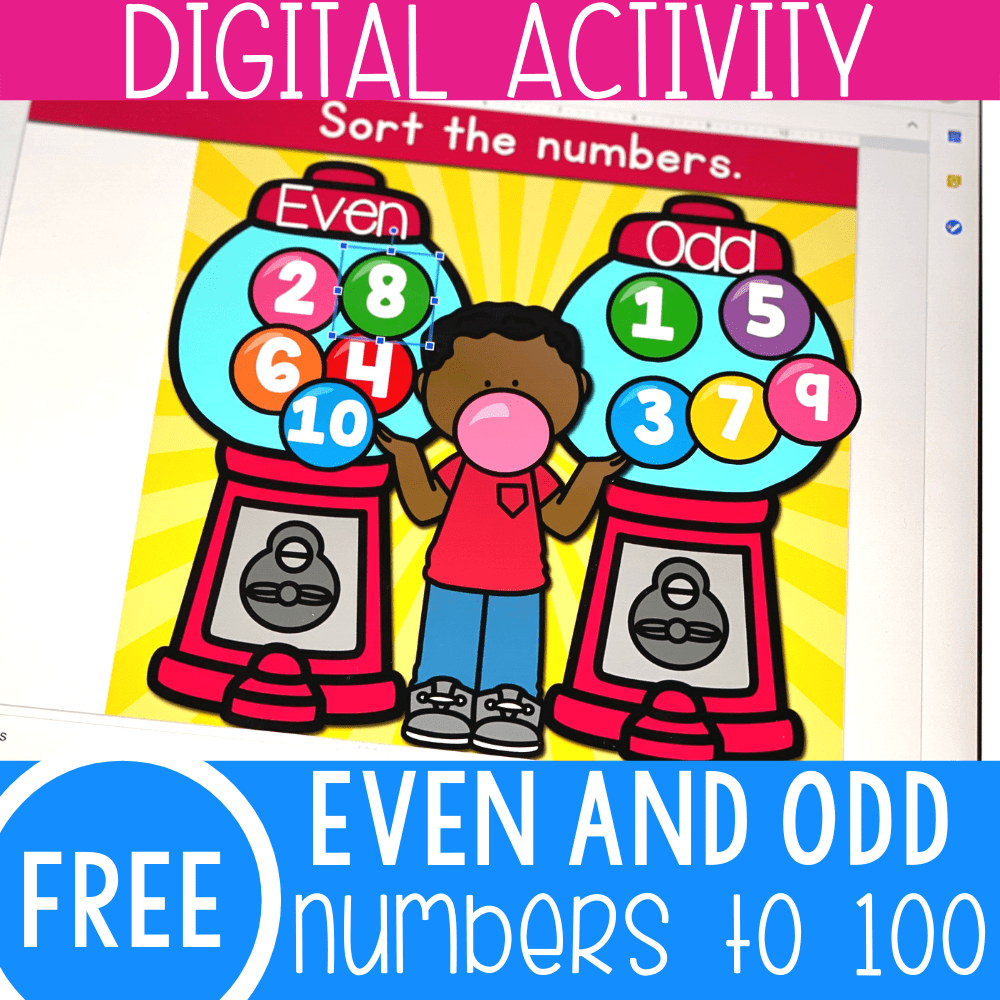 Gumballs Even and Odd Numbers Math Activity