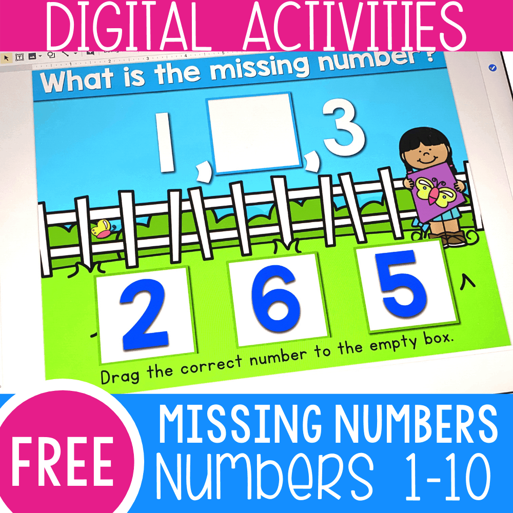 Find the Missing Number Level 1 Numbers 1-10