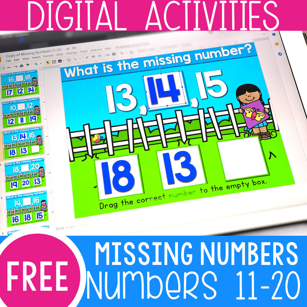 Find the Missing Number Level 1 Numbers 11-20
