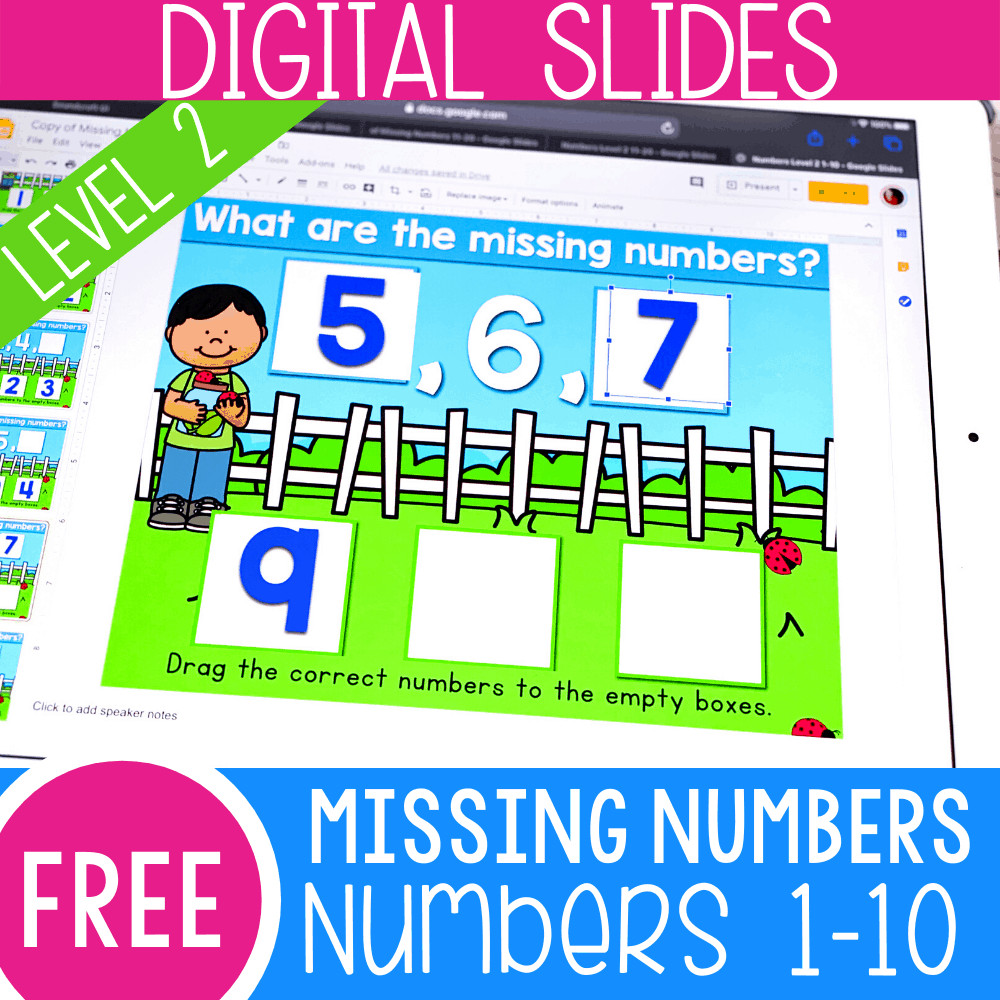 Find the Missing Number Level 2 Numbers 1-10