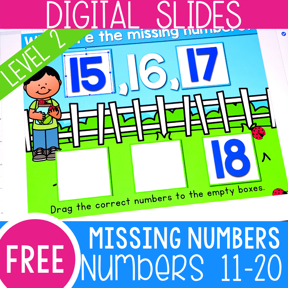 Find the Missing Number Level 2 Numbers 11-20