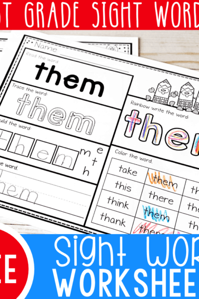 How can we help beginning readers improve their reading fluency? Two words: Sight Words! Using activities like these free printable first grade sight words worksheets are an awesome way to build fluency!