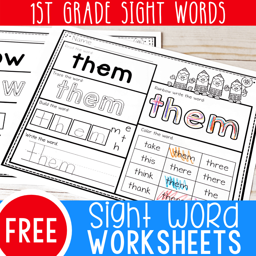 - Free Printable First Grade Sight Words Worksheets - Life Over Cs