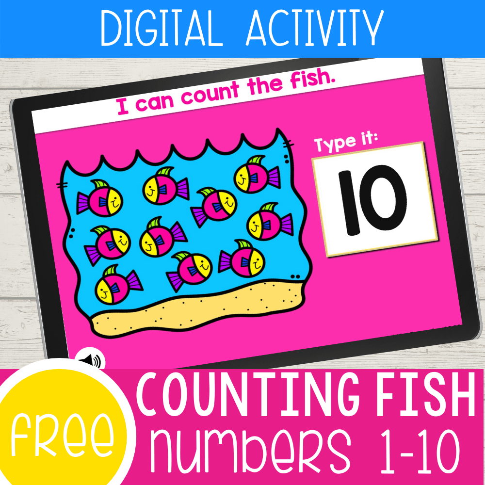 Free Digital Fish Arrays Counting Activity for Kids