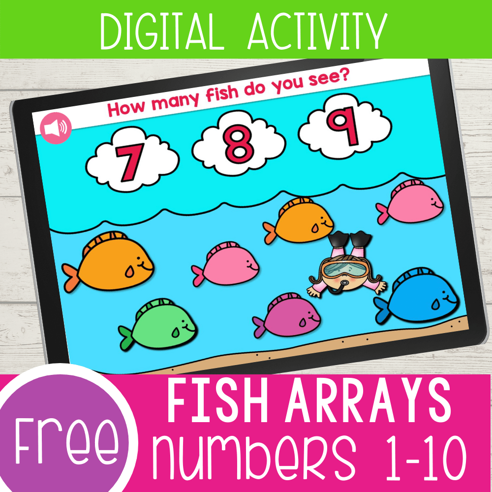 Fish Theme Counting to 10 Preschool Math Activity