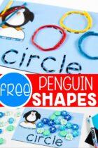 Penguin Shapes activity printables.