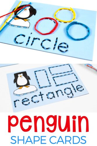 Penguin Shapes activity printables.