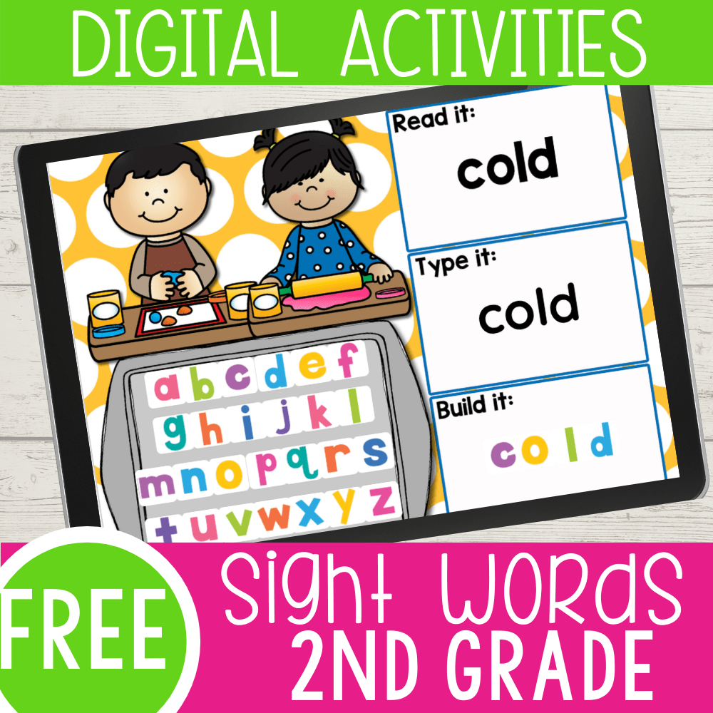 Digital Play Dough 2nd Grade Sight Word Activity
