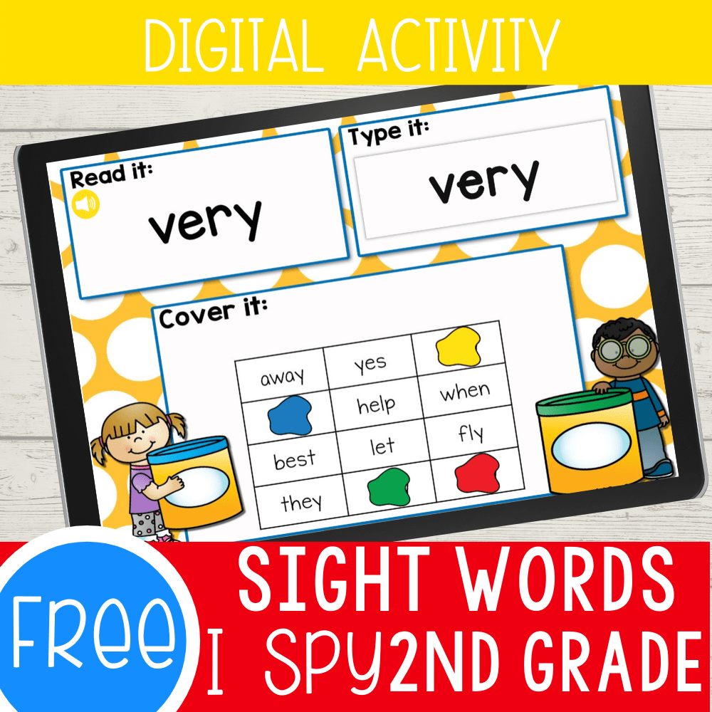 Second Grade Sight Words Digital I Spy Activities