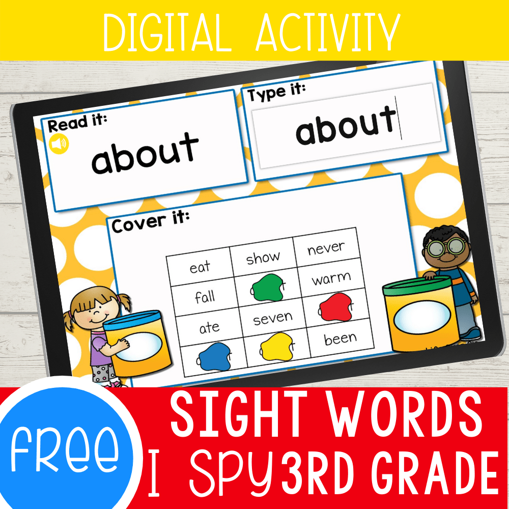 Third Grade Sight Words Digital I Spy Activity
