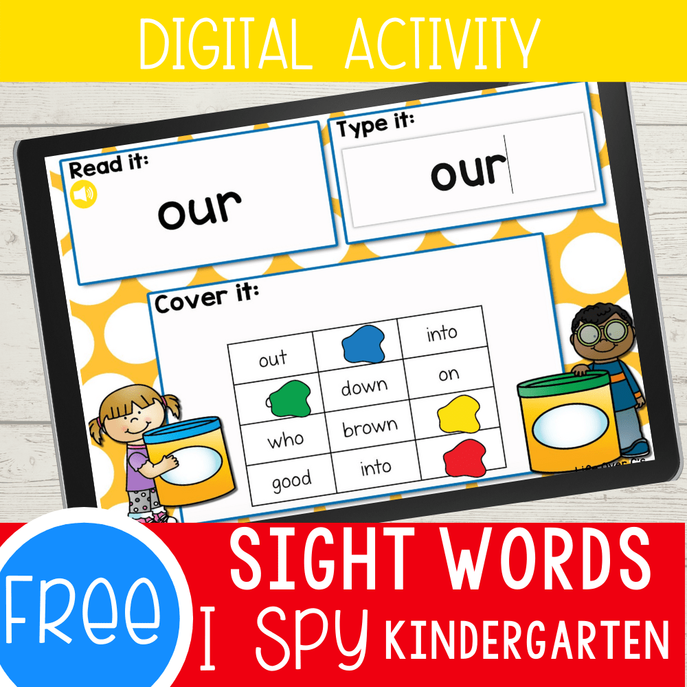 Kindergarten Sight Words Digital I Spy