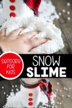 fun sensory activity for kids this winter with this Snow Slime!