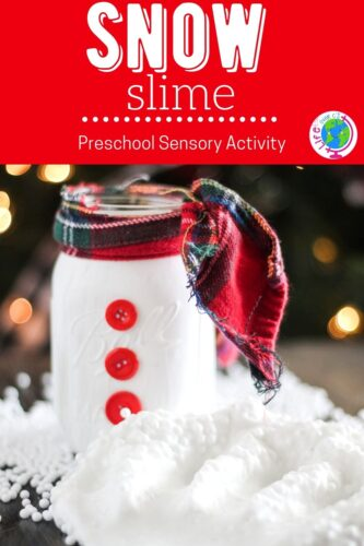 fun sensory activity for kids this winter with this Snow Slime