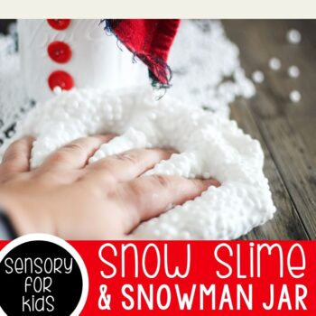 Snow slime with a snowman jar.