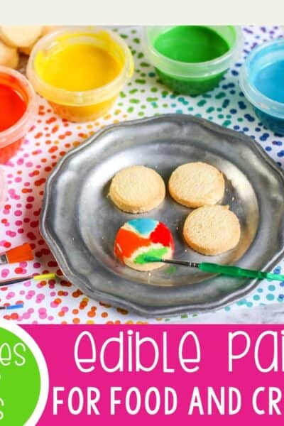 Edible paint recipe for kids.