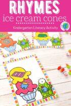 Ice Cream Cone Rhyme Activity printable.