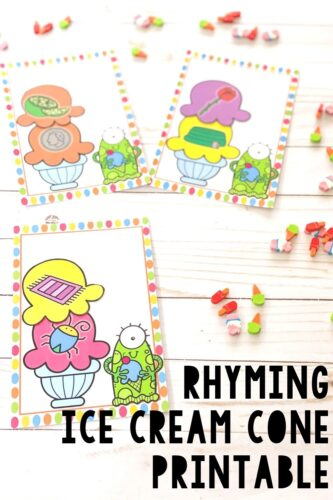 Printable rhyming activity for kids.