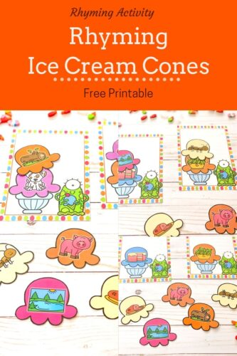Rhyming Ice Cream Cones Activity