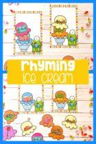 Ice cream cone rhyming activity.