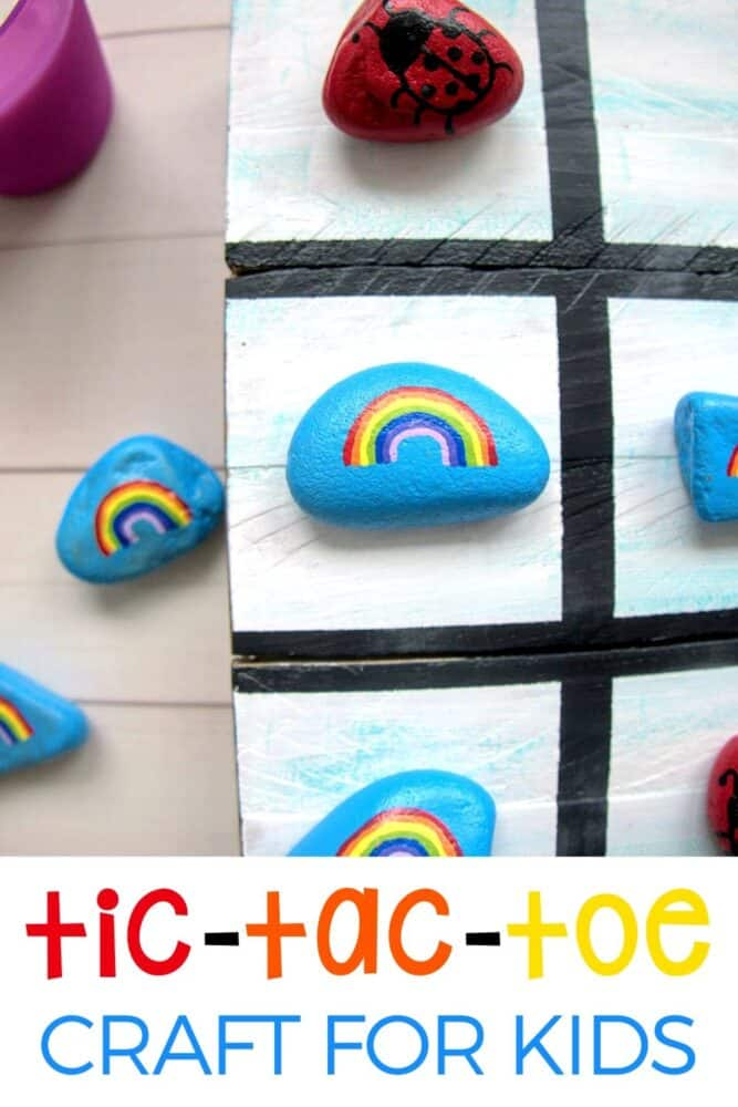Easy DIY Rock Tic-Tac-Toe craft for kids! Rock Tic-Tac-Toe | Tic-Tac-Toe Craft | Rock Painting | Rock Painting Craft | DIY Rock Craft | Rock Craft | DIY Tic Tac Toe | Life Over C's #tictactoe #rocktictactoe #rockpainting #paintingrocks #boardgame #diygame #gameforkids #kidsgame #lifeovercs