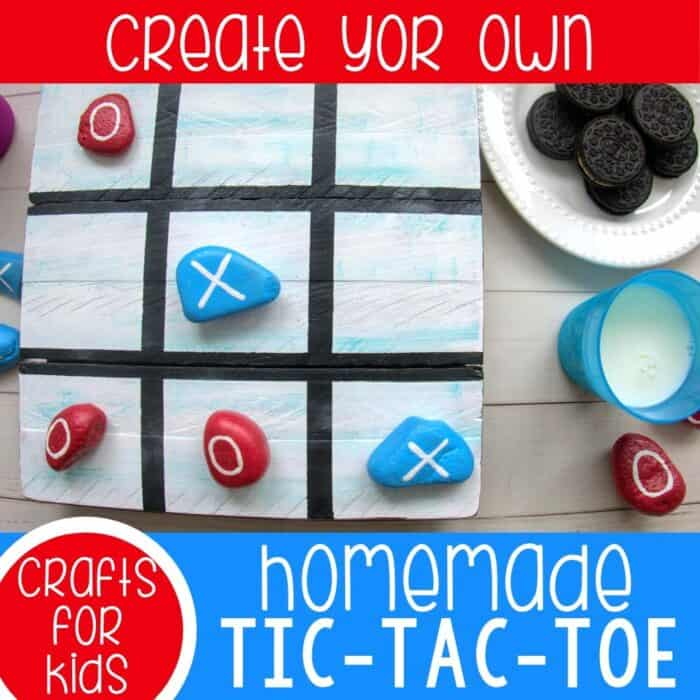 Homemade Tic Tac Toe game using rocks.