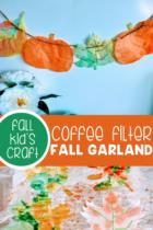Coffee Filter Fall Garland craft.