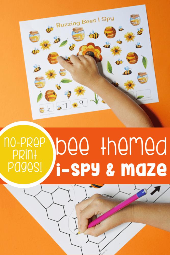 Bee I-Spy and Maze