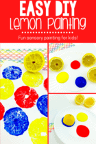 DIY Lemon Painting for Kids