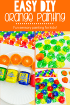 DIY Orange Painting Activity