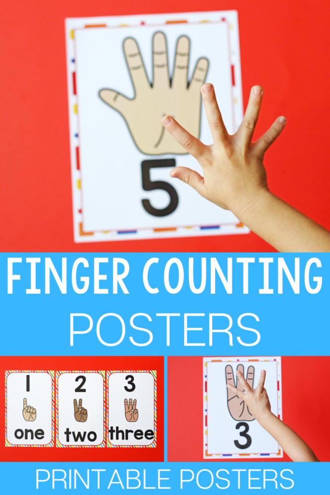 Finger counting posters you can print.