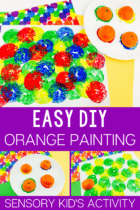 Orange Painting Activity for Kids