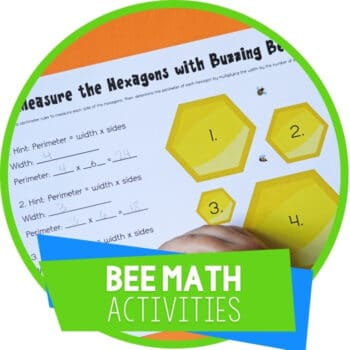 Bee Math Activities Featured Image