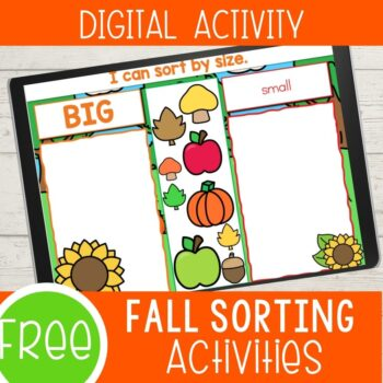 Fall sorting activities digital version!