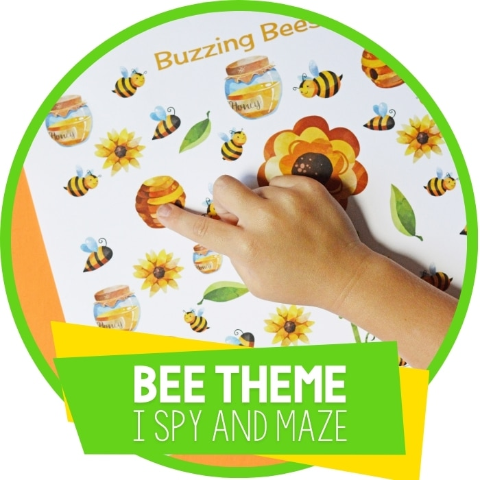 I Spy and Maze Bee Activities for Preschool