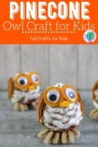 Pinecone Owl Craft for kids.