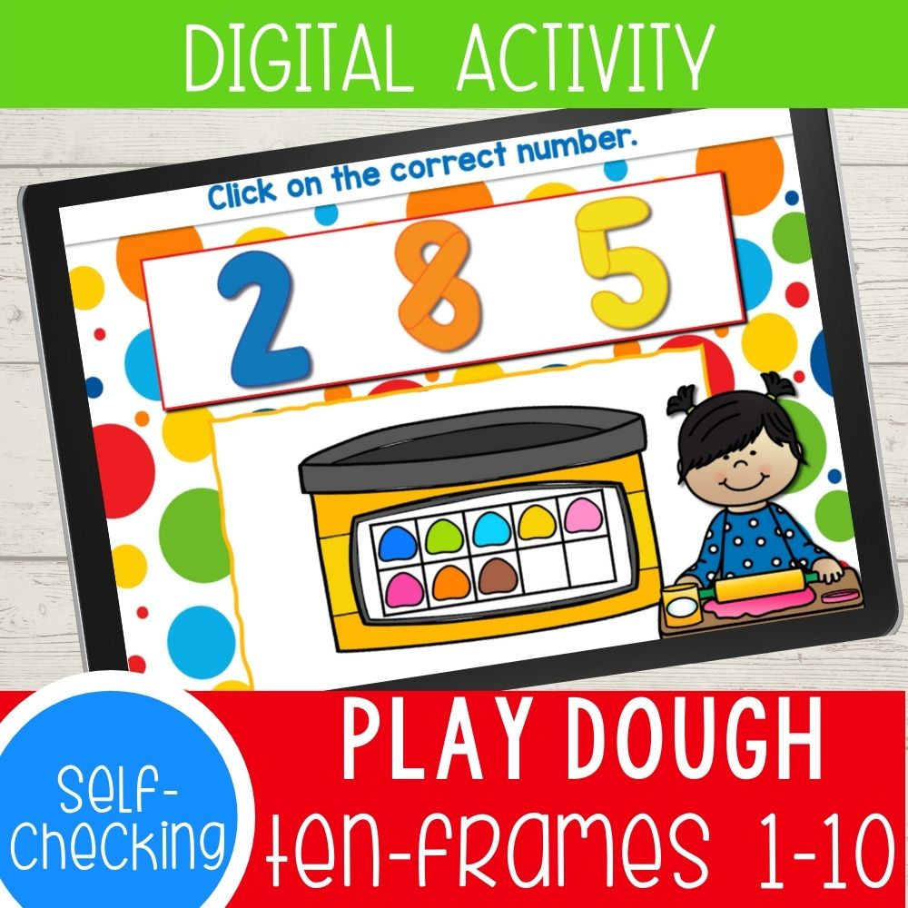 Digital Play Dough Ten Frames Counting Activities