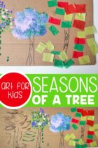 Seasons of a Tree craft for kids.