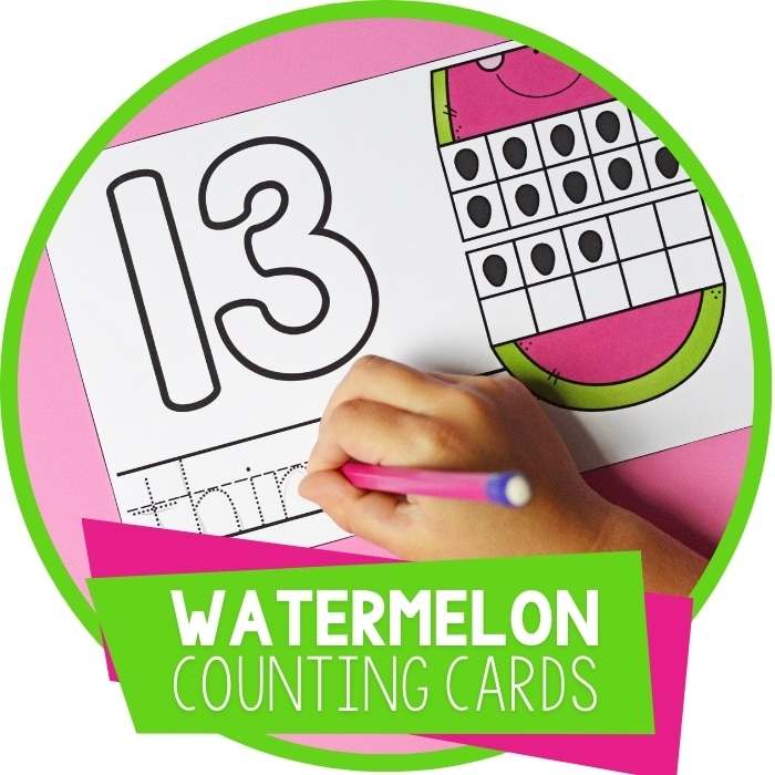Watermelon Counting Summer Preschool Math Activity